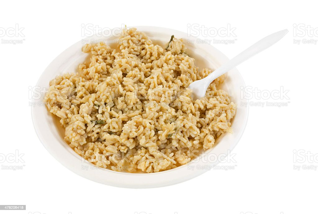 Risotto rice and asparagus meal stock photo