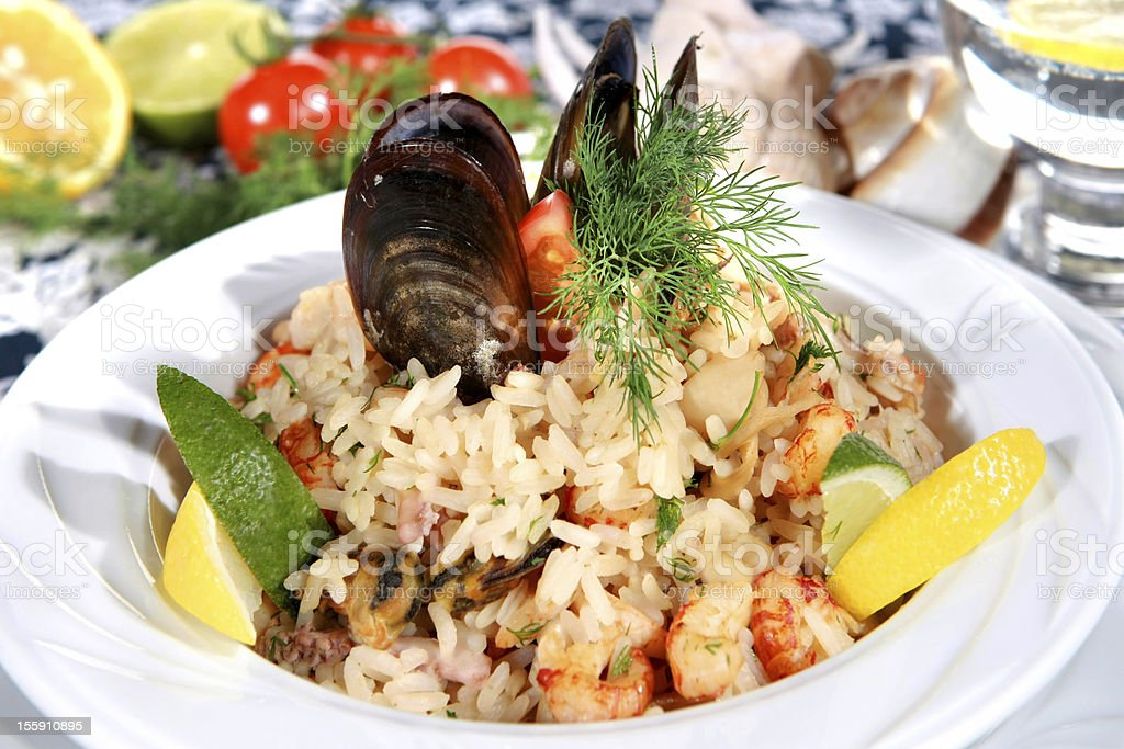 Frutti di mare risotto royalty-free stock photo