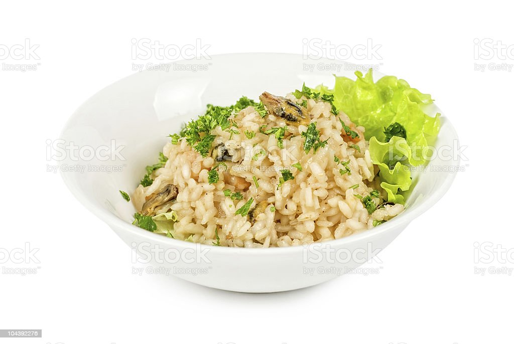 risotto whit seafood royalty-free stock photo