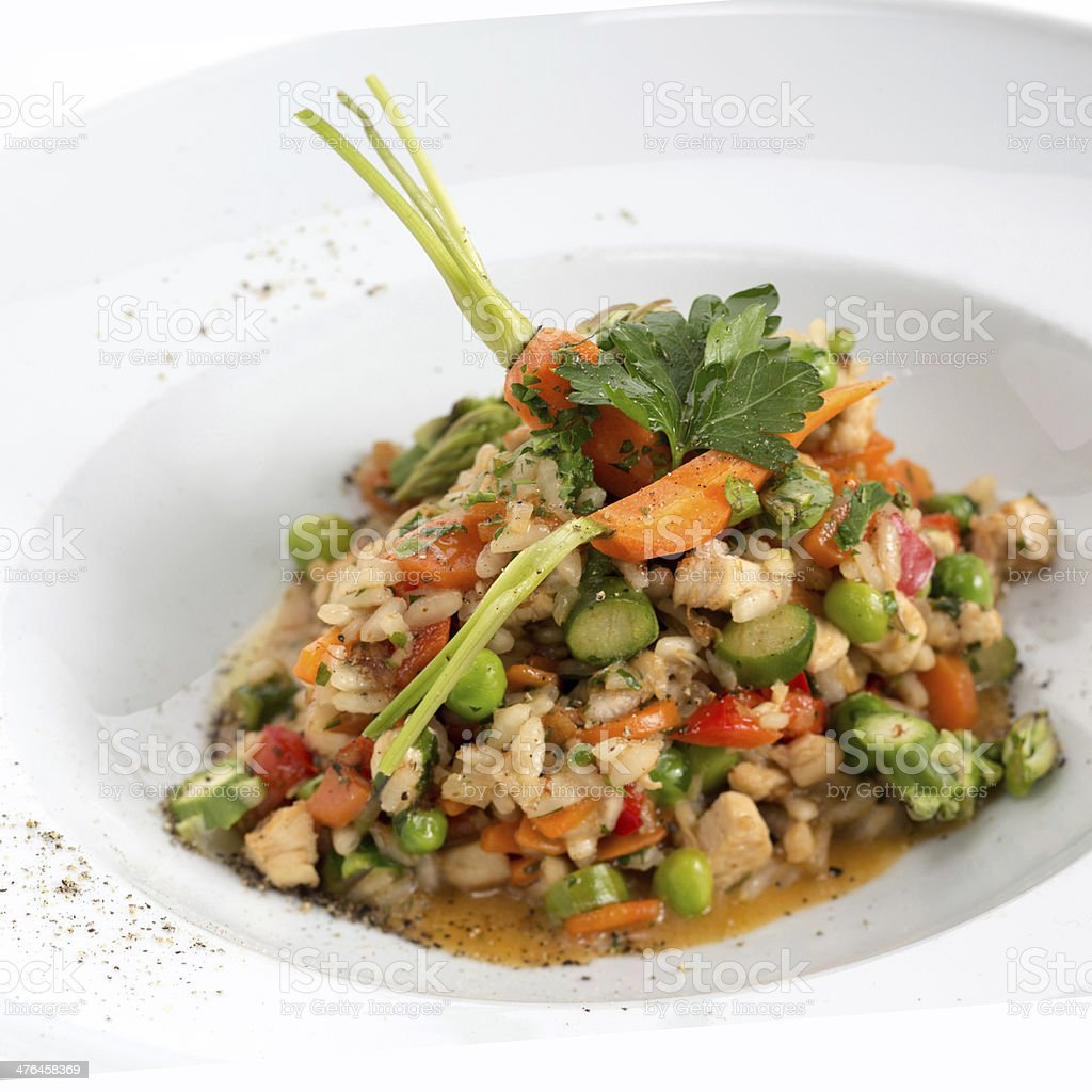 Risotto with chicken and vegetable royalty-free stock photo