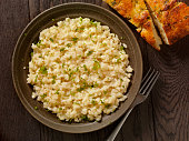Risotto with Fresh Parsley and Focaccia Bread