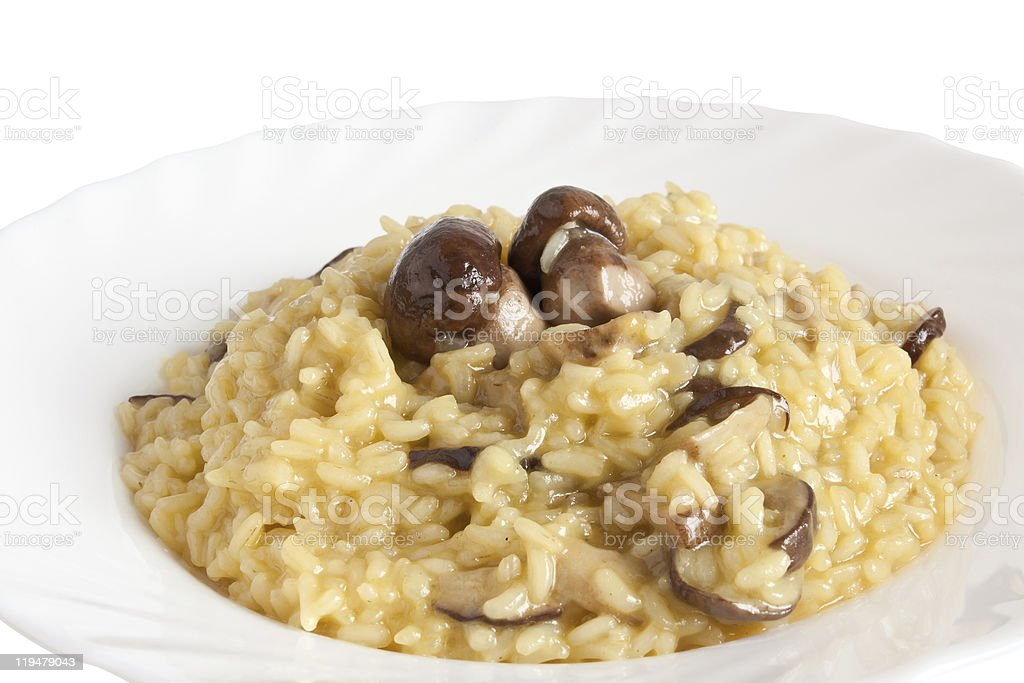 risotto with mushrooms royalty-free stock photo