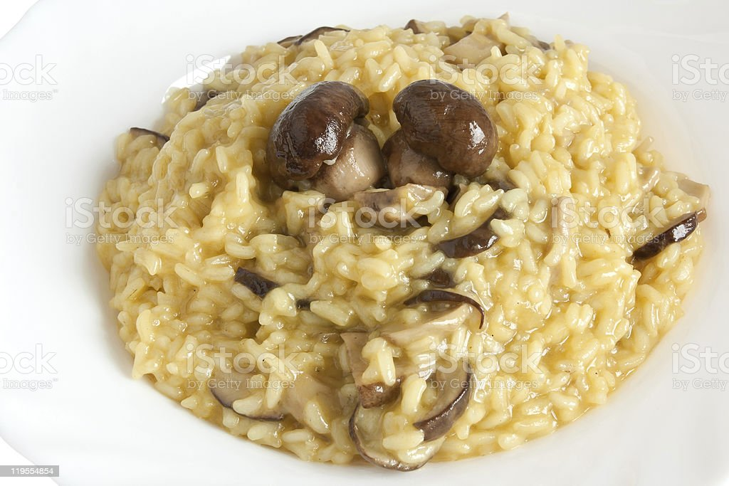 risotto with porcini mushrooms royalty-free stock photo
