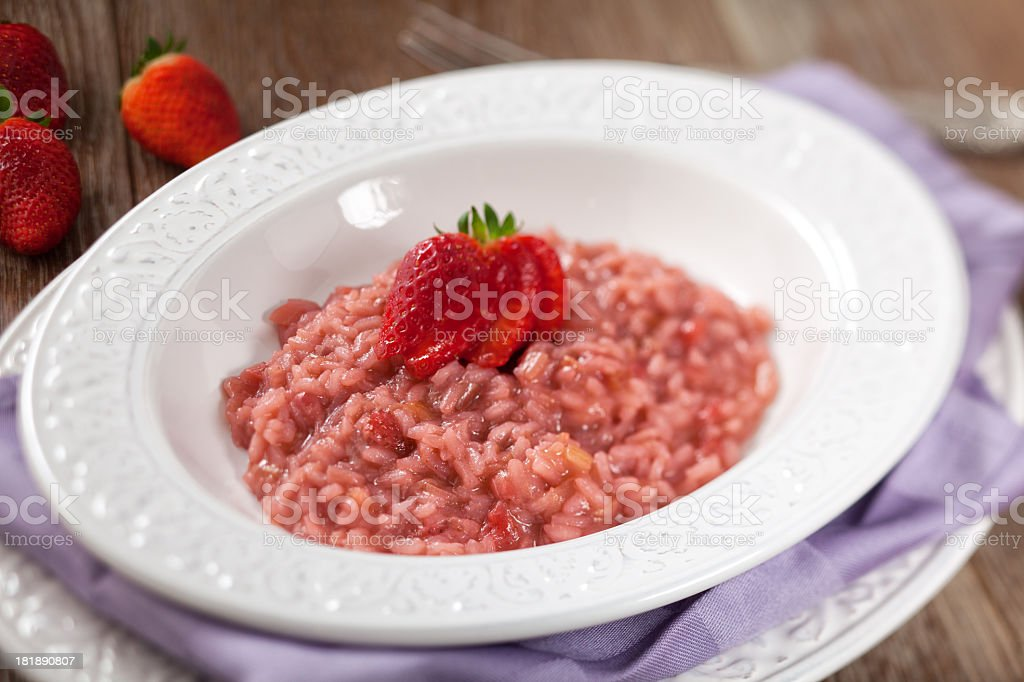 Risotto With Strawberries royalty-free stock photo