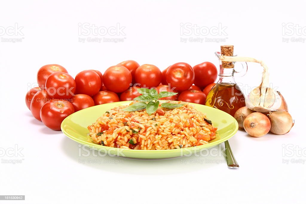 Risotto with tomatoes royalty-free stock photo
