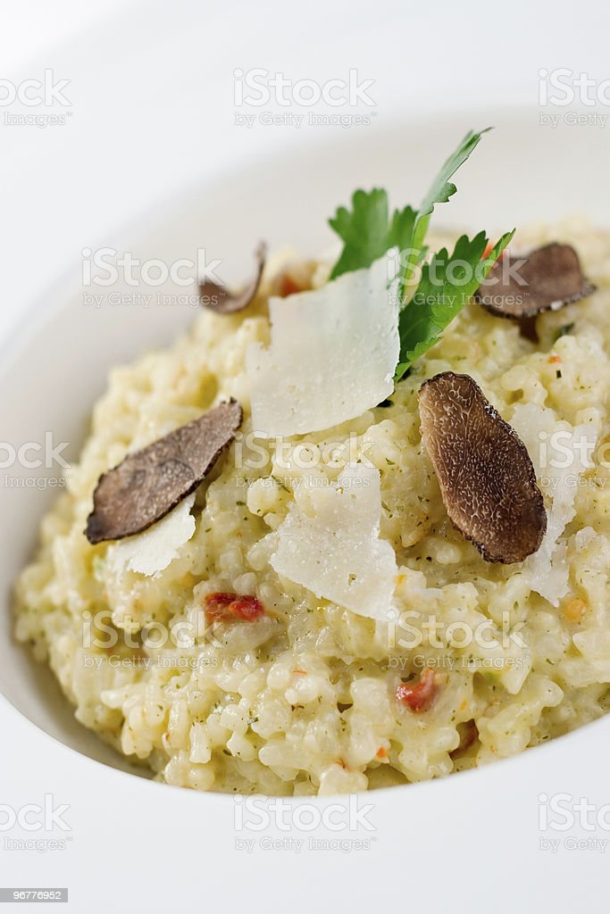 Risotto with Truffles royalty-free stock photo