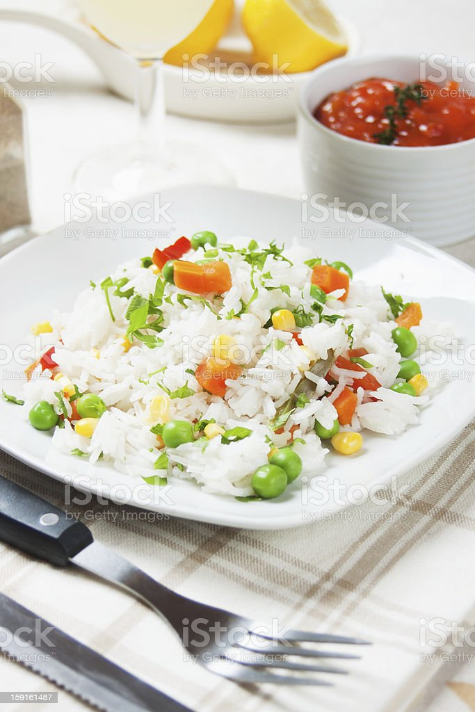 Risotto with vegetables royalty-free stock photo