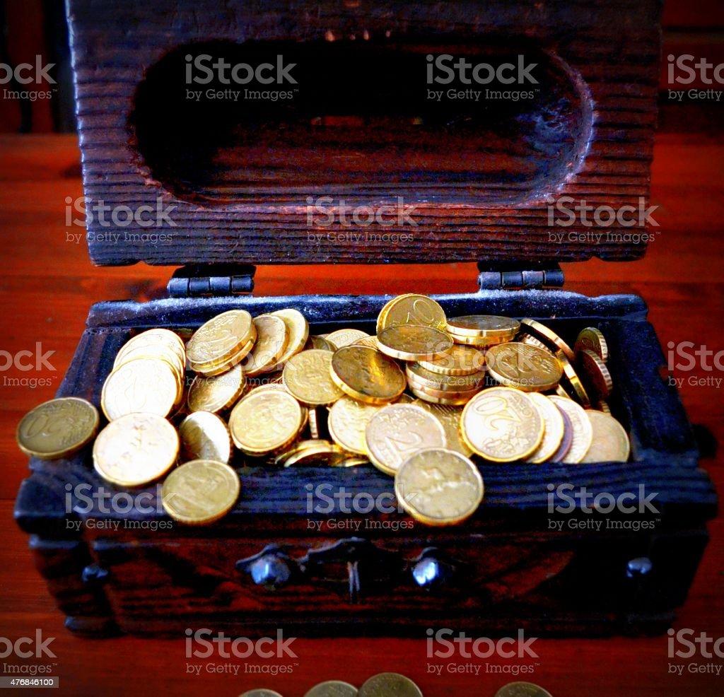 Risparmi. Monete stock photo