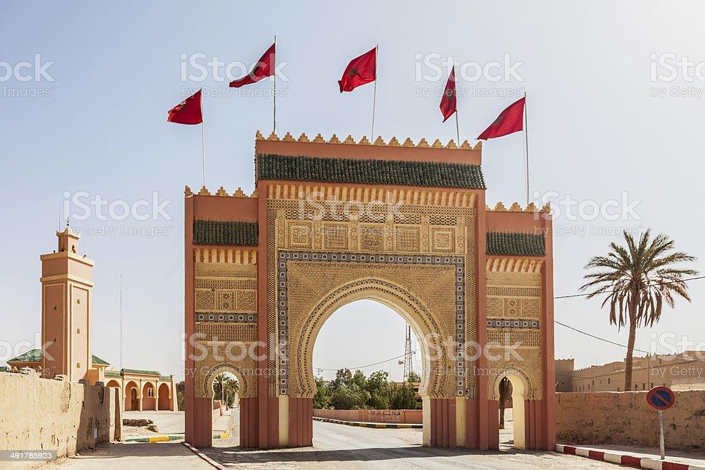 Rissani city gate, Er-Rachicia, Morocco stock photo