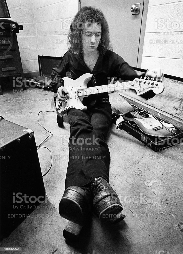 Ritchie Blackmore Tunes Up stock photo