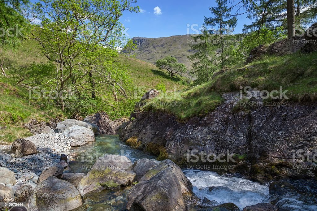 Ritson's Force, Wasdale Head, The Lake District, Cumbria, England stock photo