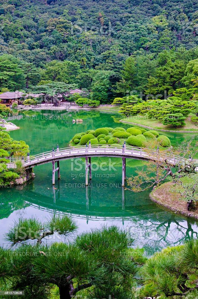Ritsurin Garden in Takamatsu, Shikoku, Japan stock photo
