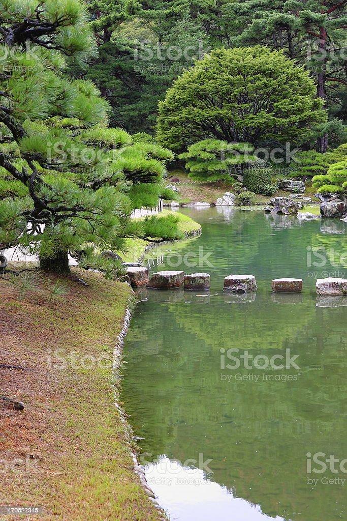 Ritsurin garden stock photo