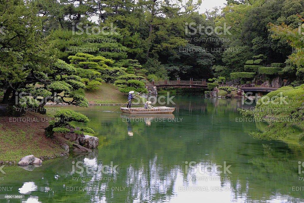 Ritsurin pond stock photo