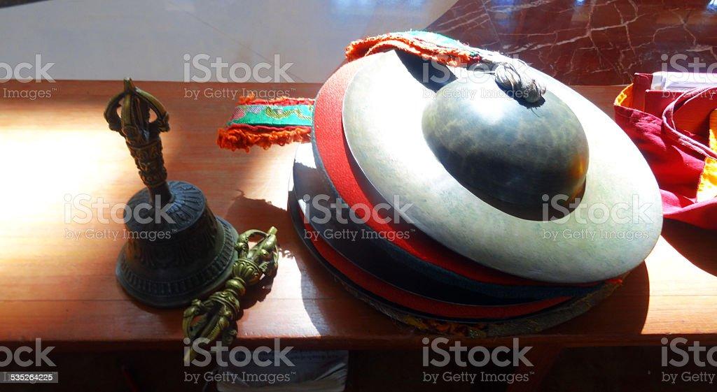 Ritual buddhist items stock photo