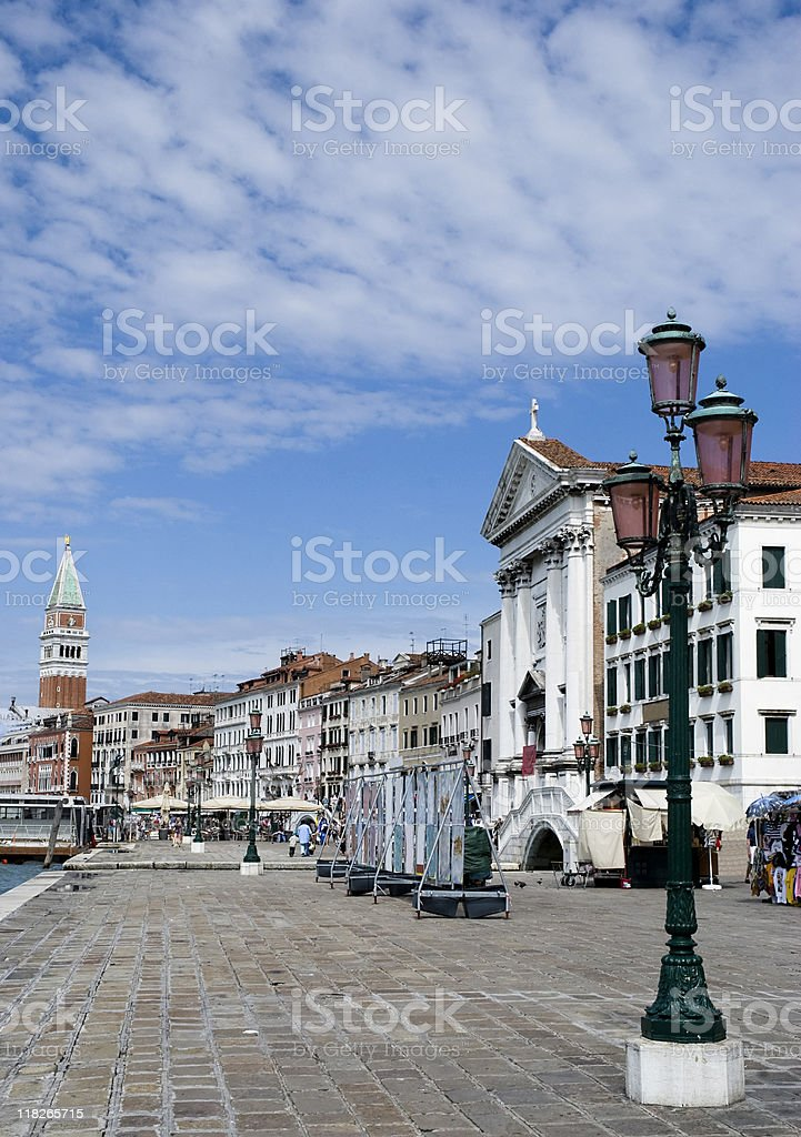 Riva degli schiavoni, Venezia royalty-free stock photo
