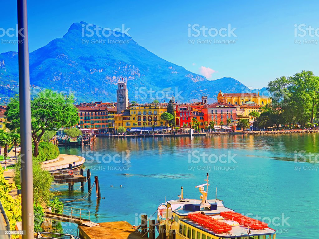 Riva del Garda,Trentino,Italy stock photo