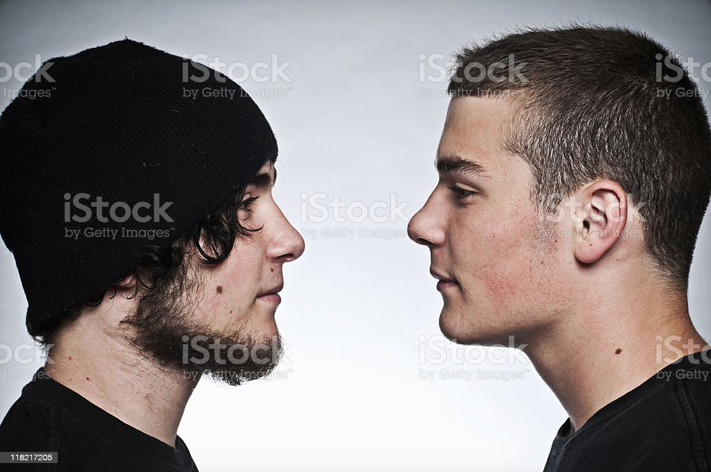 Rival Twins stock photo