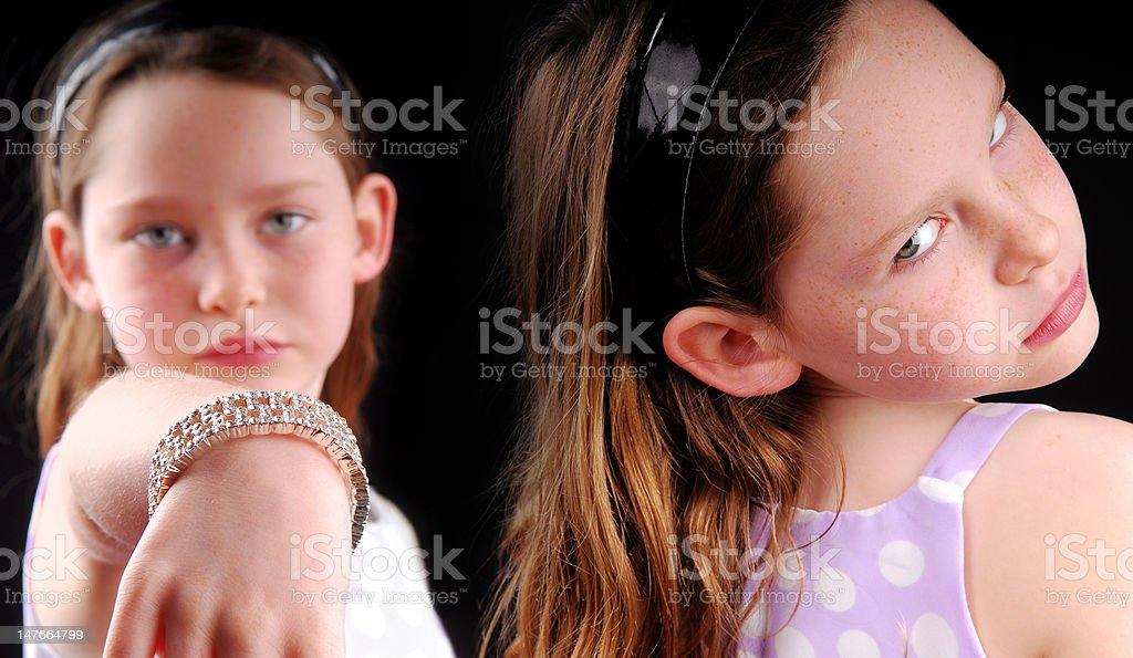 Rivalry Between Girls stock photo