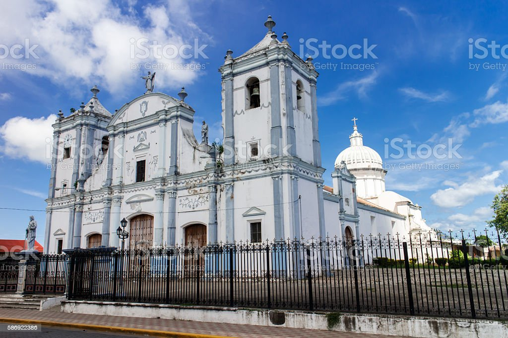 Rivas Cathedral, Nicaragua stock photo