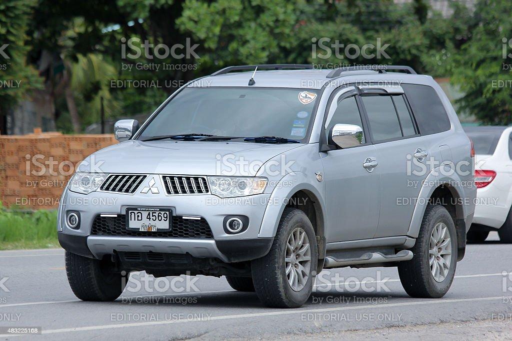 rivate Mitsubishi Challenger stock photo