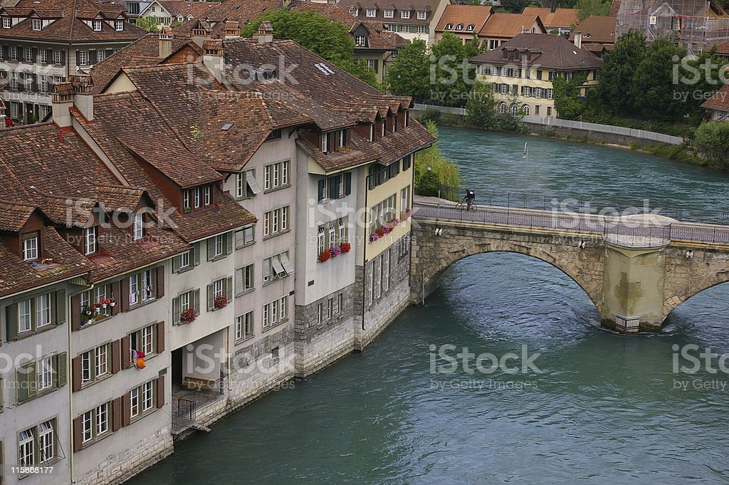 River Aare in Berne royalty-free stock photo