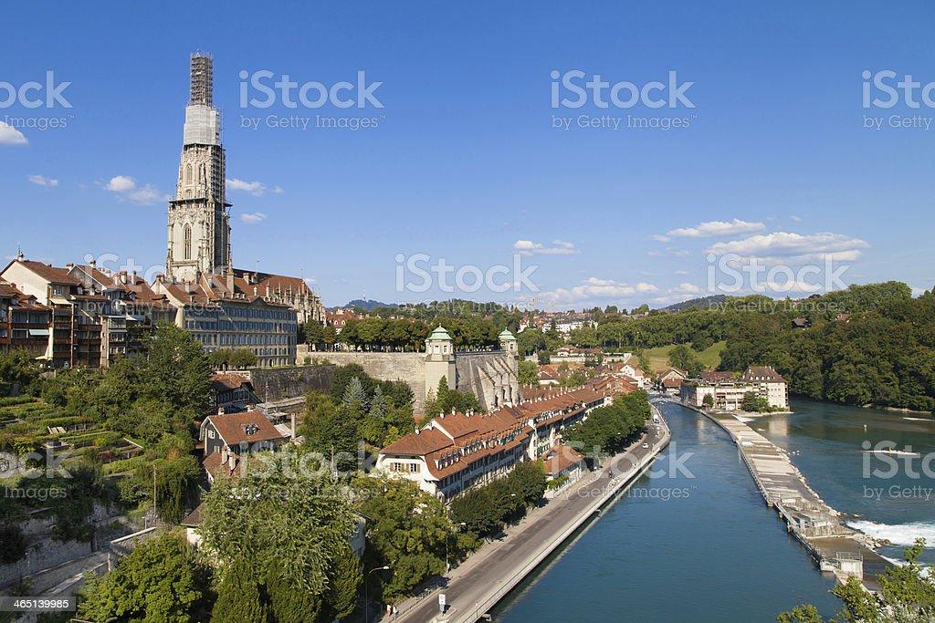 River Aare through Bern stock photo