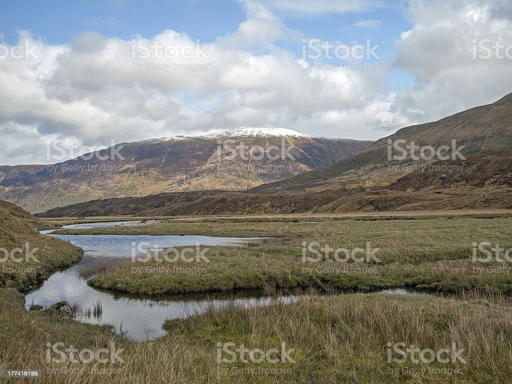 River Affric  Scotland in spring. stock photo