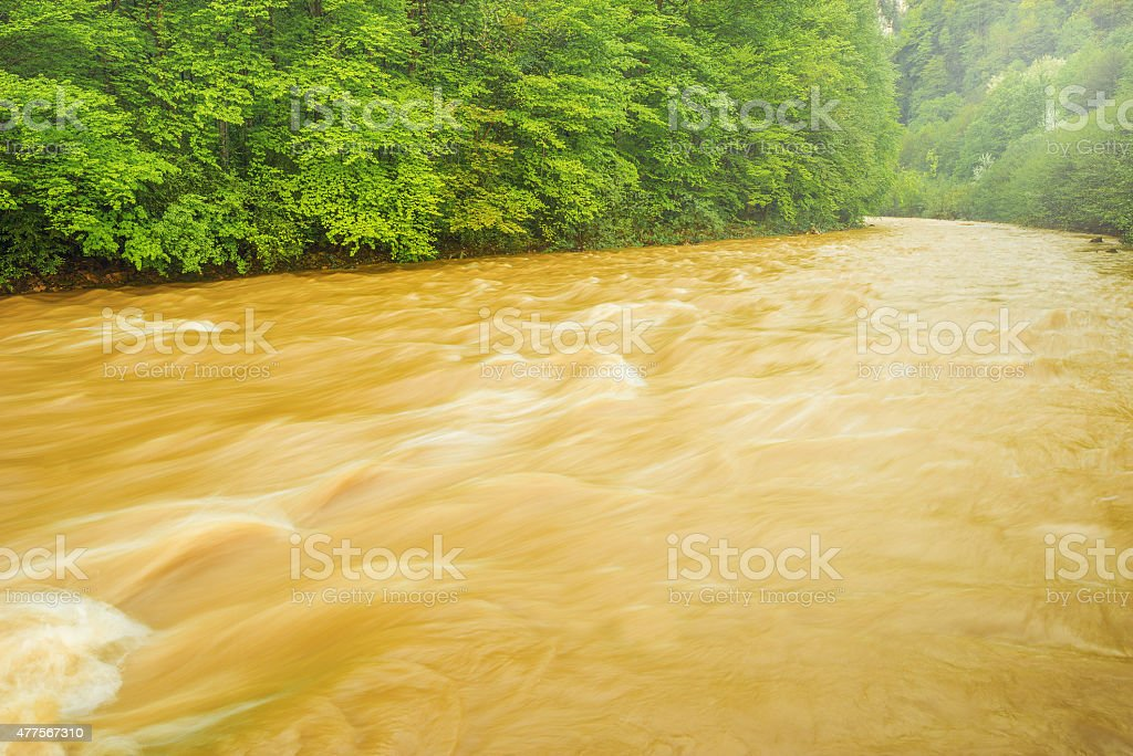River after storm. stock photo