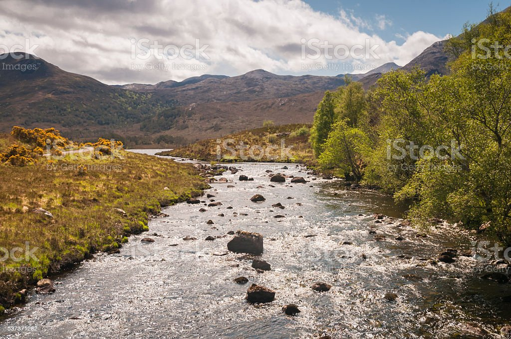 River A'Ghairbhe. stock photo