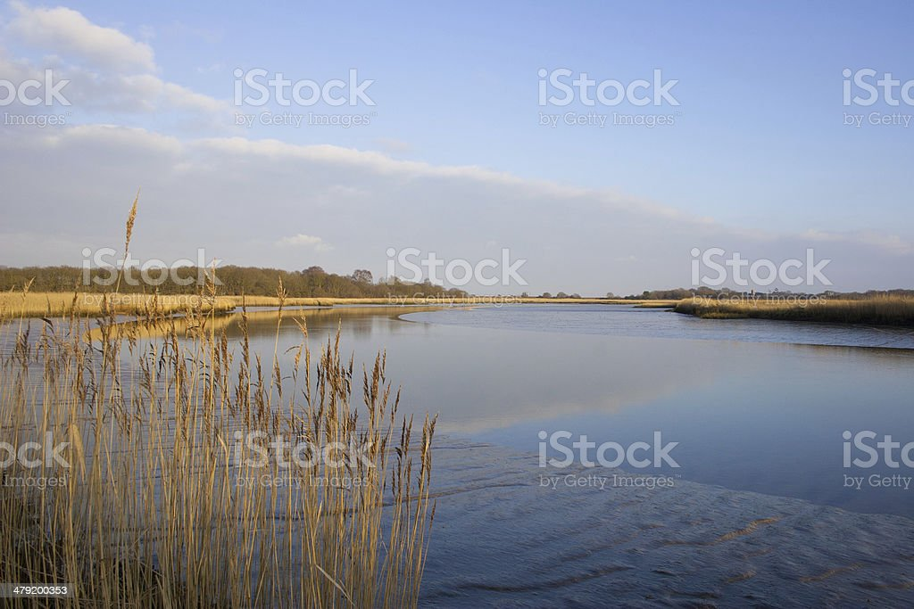 River Alde at Snape royalty-free stock photo