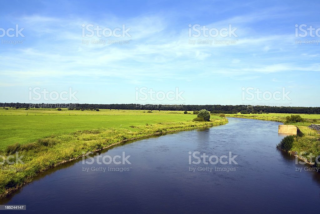 River Aller in summer royalty-free stock photo