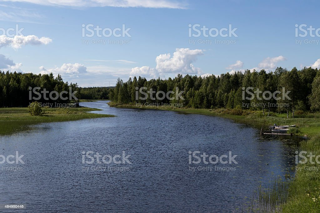 River and boats royalty-free stock photo