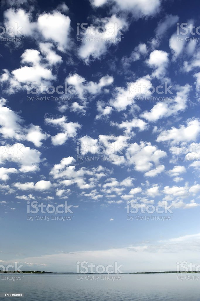 River and Cumulus royalty-free stock photo