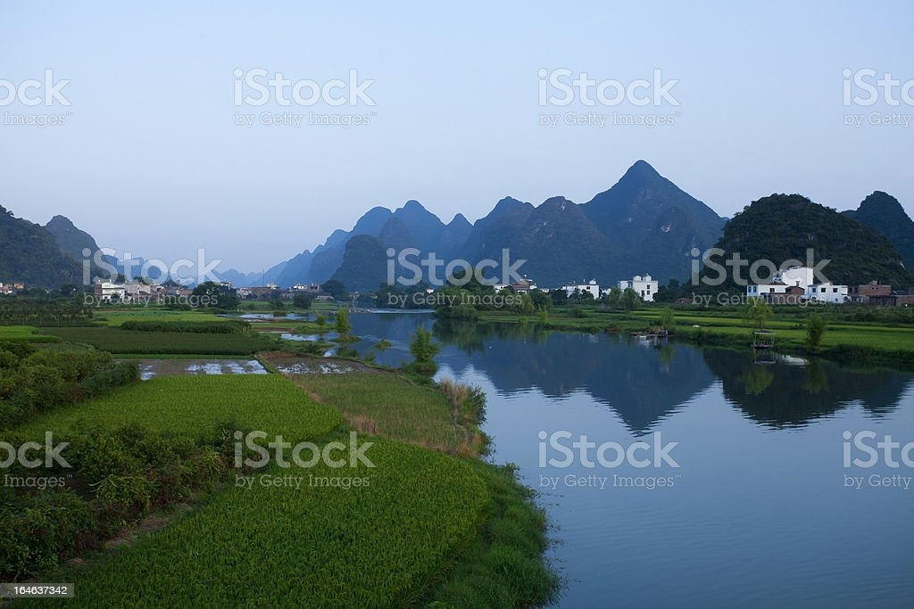 River and landscape royalty-free stock photo