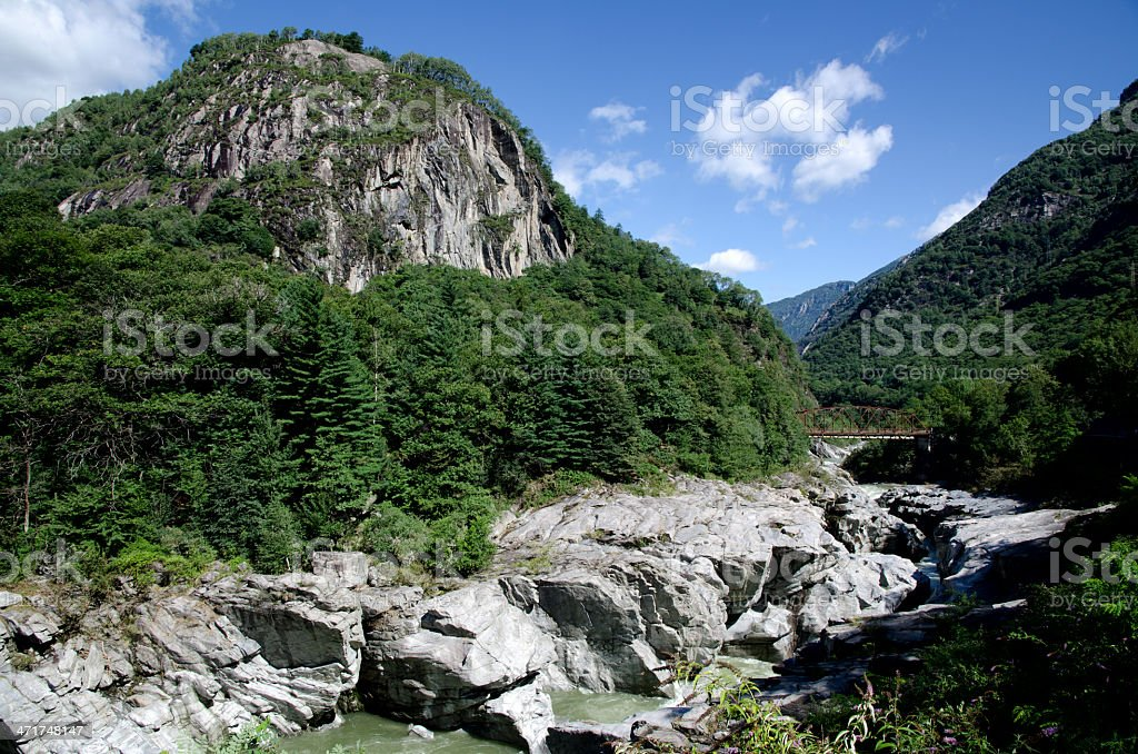 River and mountain royalty-free stock photo