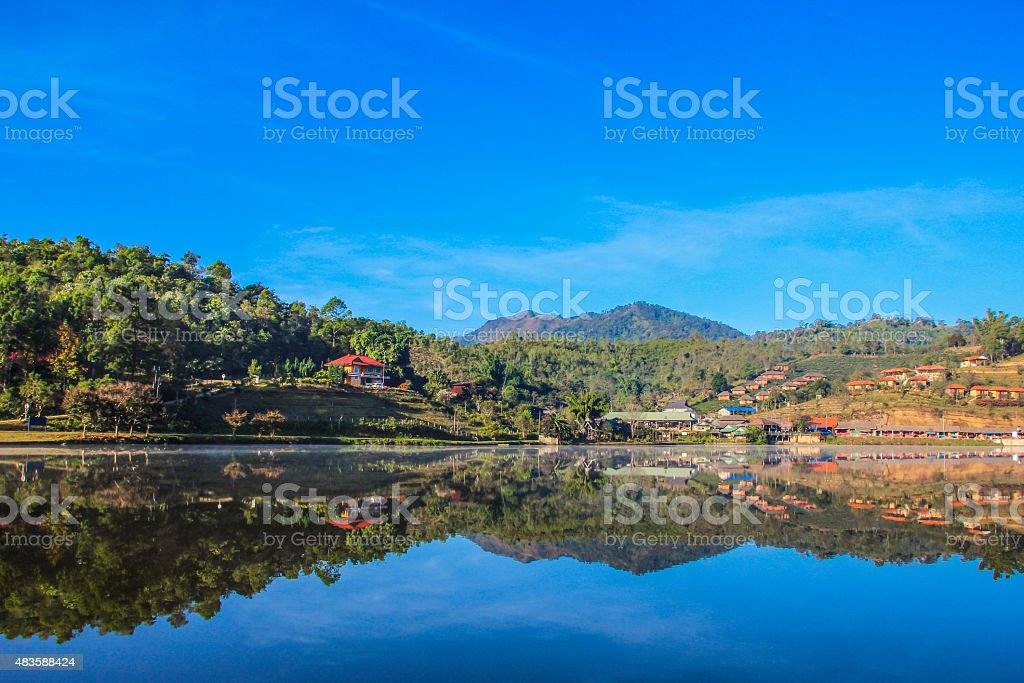 River and mountains royalty-free stock photo