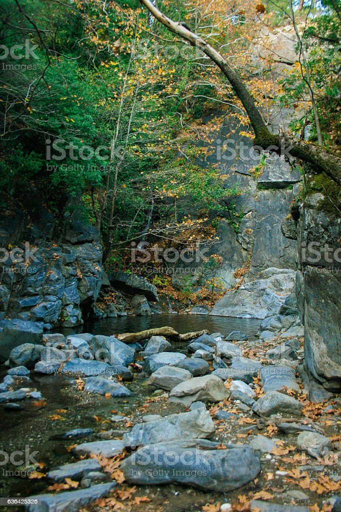River and Rocks stock photo