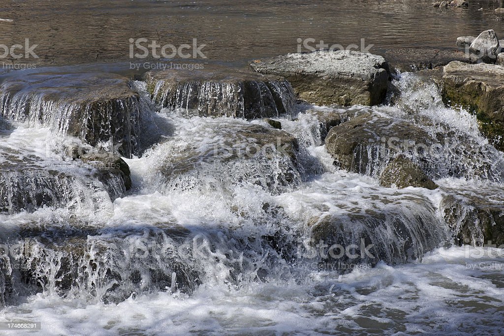 River and small waterfall royalty-free stock photo