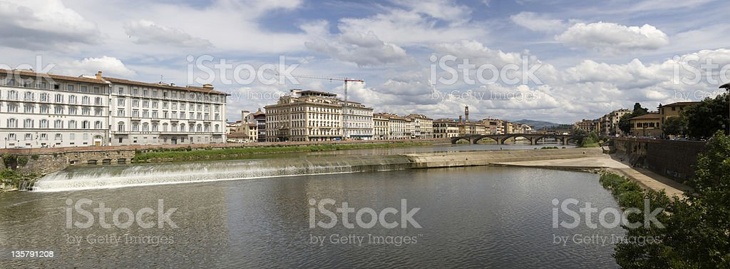 River Arno weir at Florence stock photo