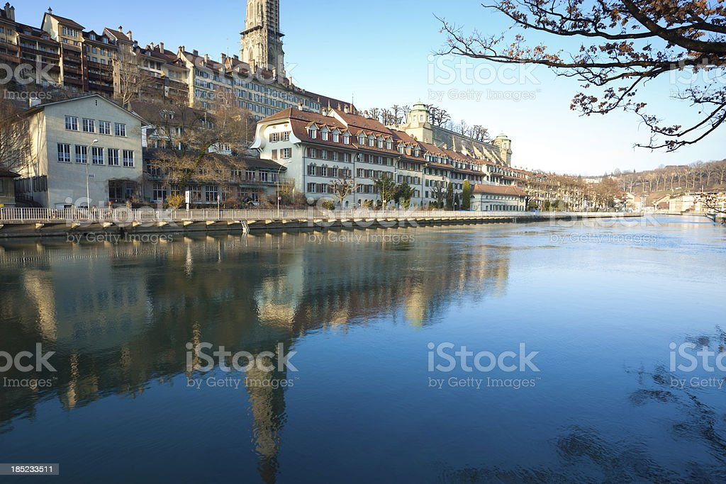 river around the Berne Canton royalty-free stock photo