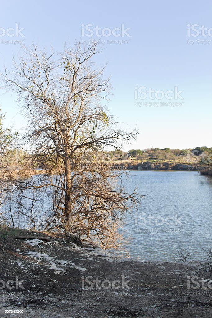River at Brushy Creek Regional Trail stock photo