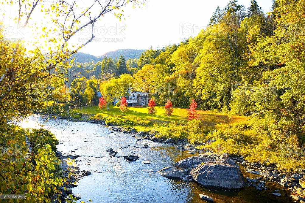 River at Dawn stock photo