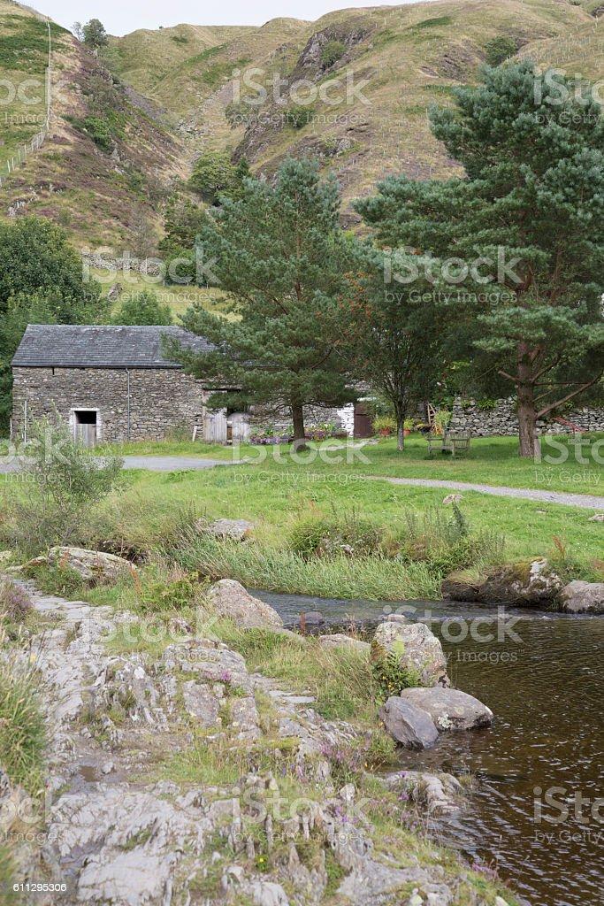 River at Watendlath; Lake District; England stock photo