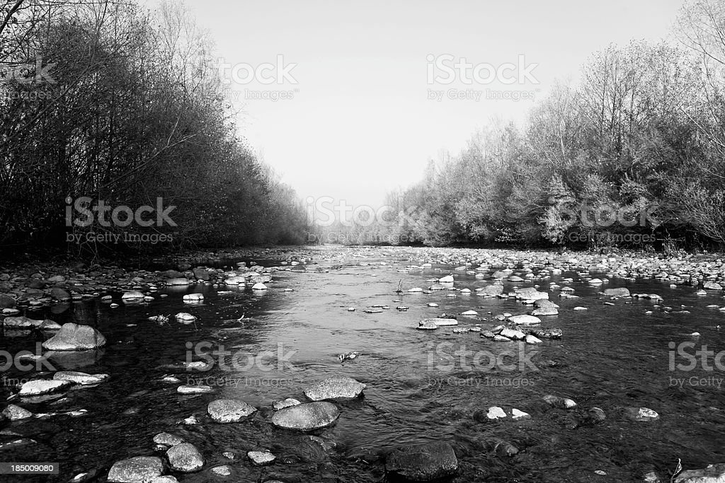 River autumn stock photo