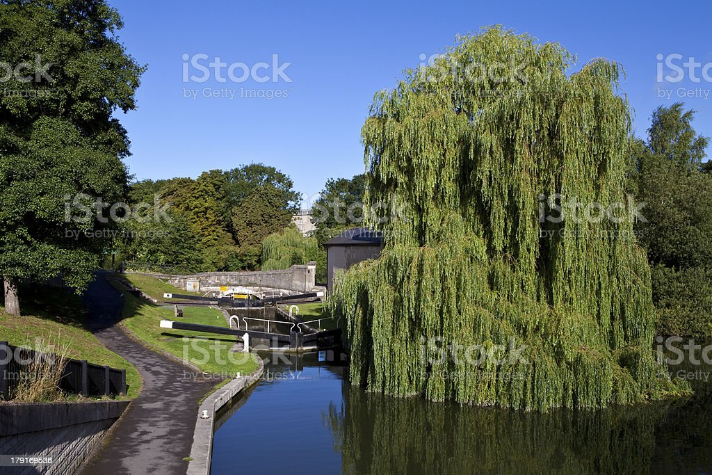 River Avon Flowing through Bath royalty-free stock photo