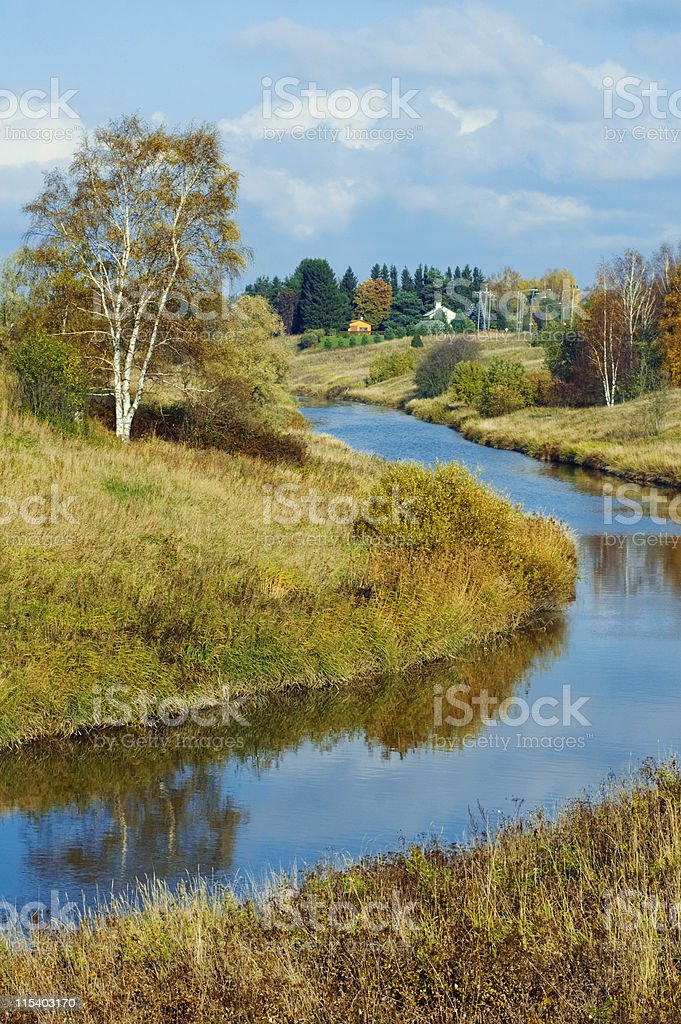 river bank royalty-free stock photo