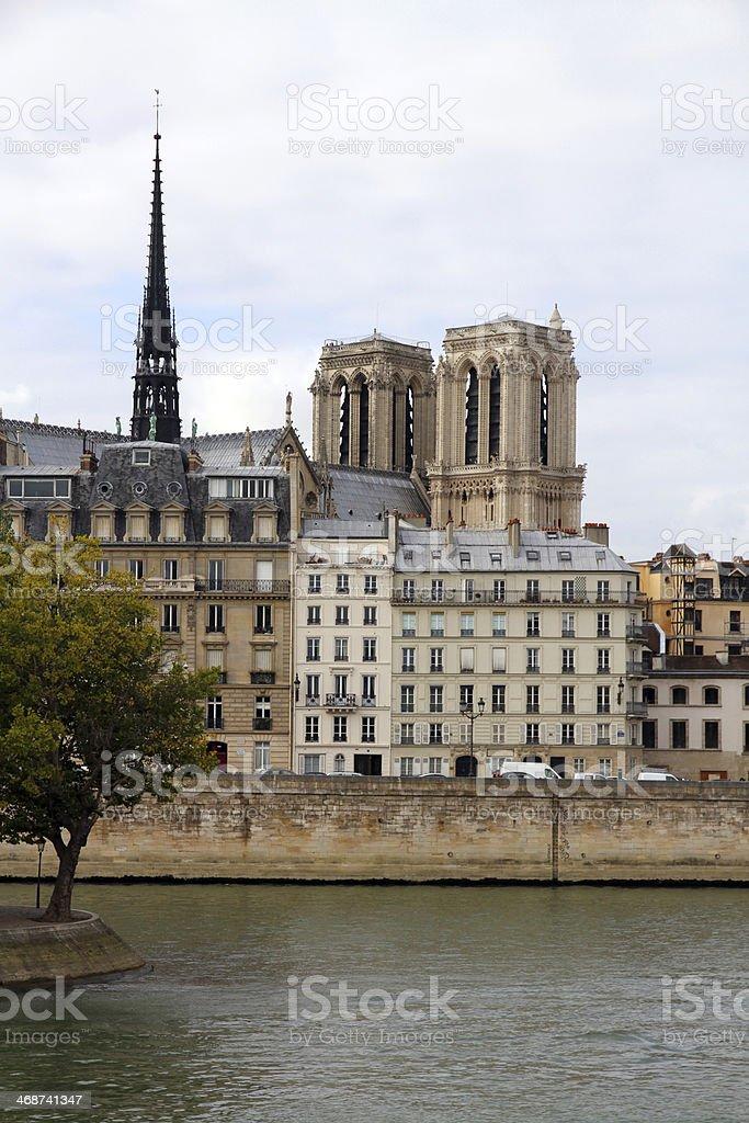 River Banks of Paris royalty-free stock photo