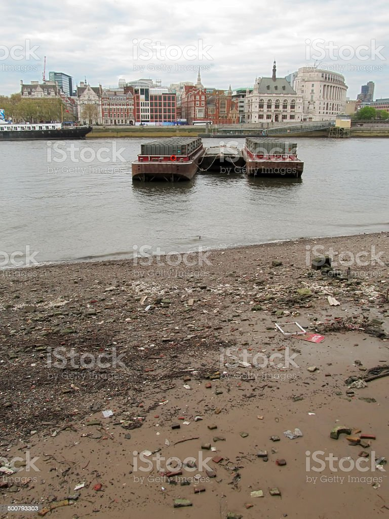 river barge containers stock photo