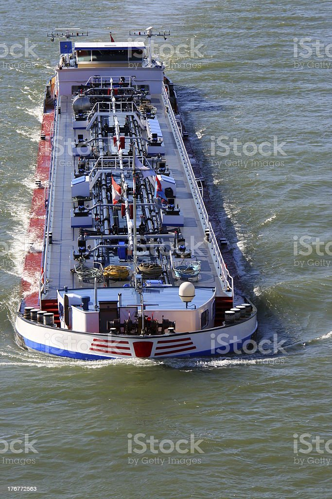 River barge on the Rhine stock photo